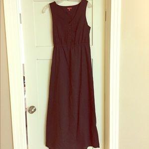 Black cotton maxi dress